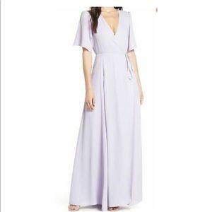 WAYF The Aurelia Sleeve Wrap Dress Gown
